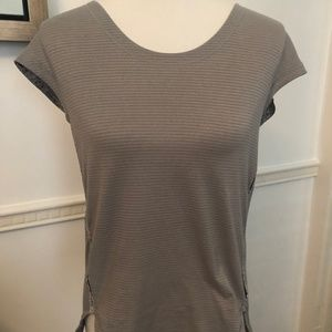 EUC - Lululemon Grey Workout Shirt sz M